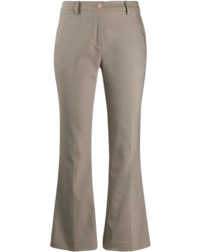 Укороченные брюки расклешенные с карманами Pt01