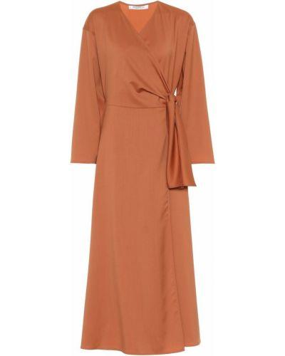 Платье миди с запахом шерстяное Max Mara