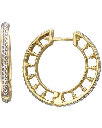 Серьги-кольца золотые эстет