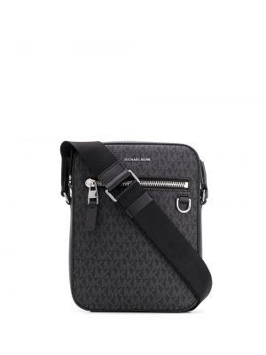 Черная сумка на плечо с карманами Michael Kors