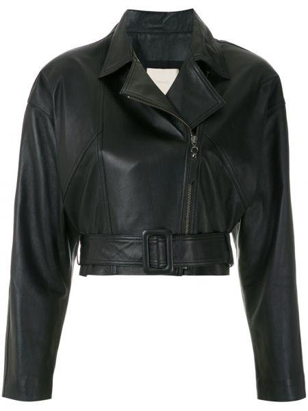 Черная длинная куртка Framed