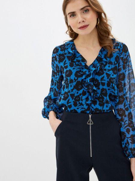 Блузка с длинным рукавом весенний синяя Wallis