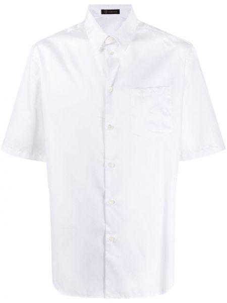 Koszula krótkie z krótkim rękawem klasyczna z kieszeniami Versace