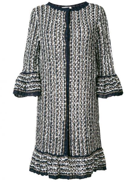 Коралловое длинное пальто с капюшоном Charlott