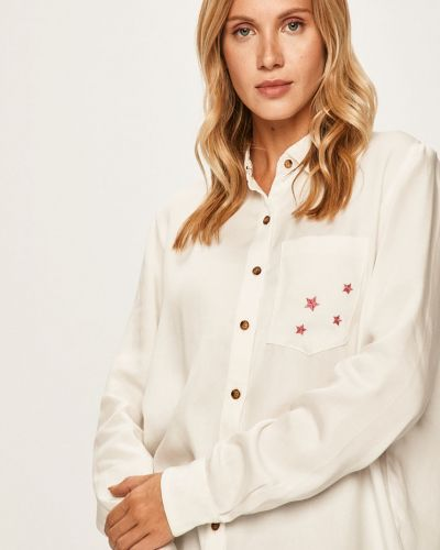 Блузка с длинным рукавом белая классическая Femi Stories