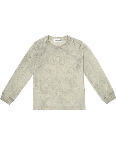 Brudny beżowy bawełna bawełna bluza Stone Island Junior
