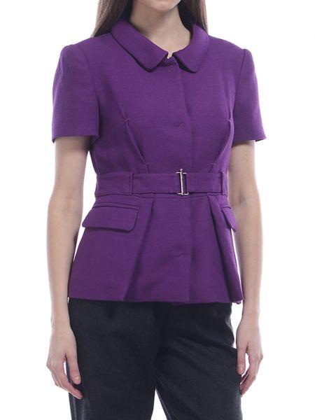 Фиолетовый шерстяной пиджак Costume National