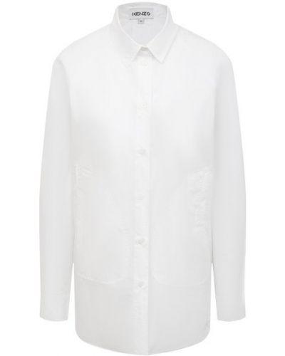 Хлопковая рубашка - белая Kenzo