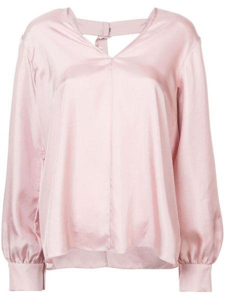 Хлопковая розовая блузка Tibi