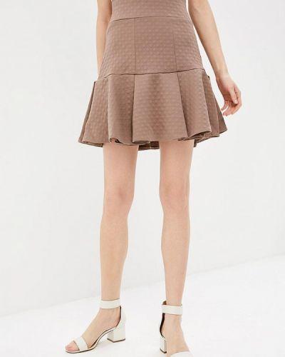 Домашняя коричневая юбка свободного кроя Sk-house