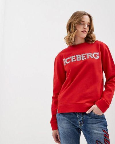 Красный свитшот Iceberg