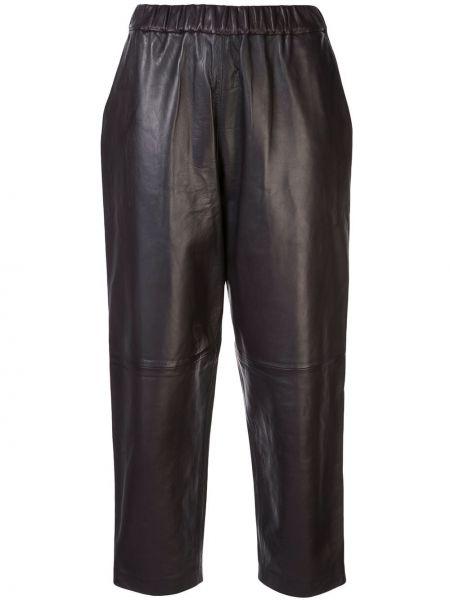 Brązowe spodnie z wysokim stanem Dusan