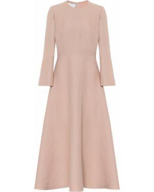 Платье миди розовое шелковое Valentino