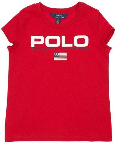 T-shirt bawełniany z printem Ralph Lauren
