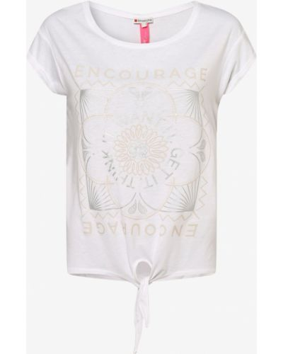 Biała koszulka z printem Street One