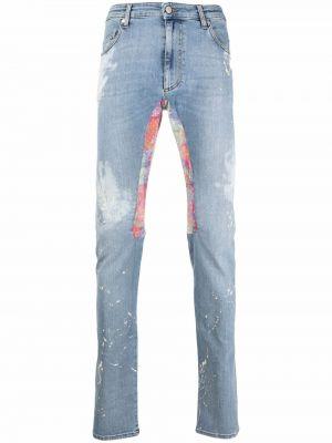 Niebieskie jeansy z paskiem bawełniane Alchemist