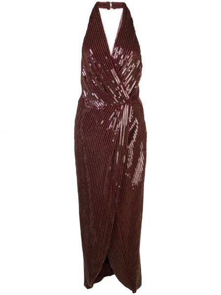 Прямое приталенное платье миди с пайетками с открытой спиной Haney
