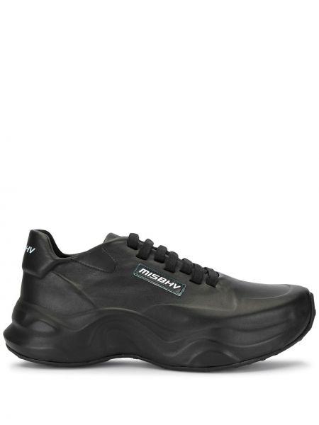 Skórzane sneakersy sznurowane czarne Misbhv