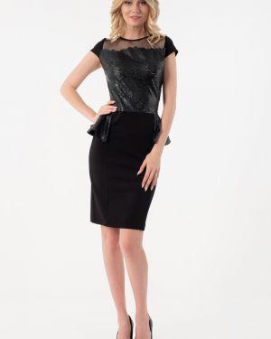 Вечернее платье платье-сарафан кожаное Wisell