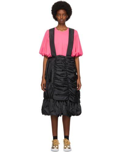 Черная юбка с карманами на бретелях Comme Des Garçons