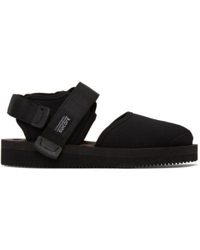 С ремешком черные сандалии на липучках Suicoke