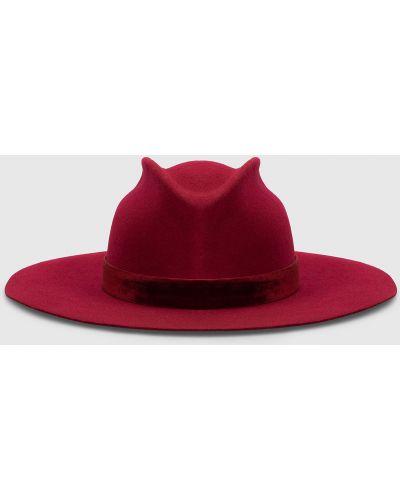 Шерстяные шляпа - бордовые Max & Co