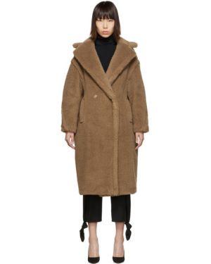 Длинное пальто без воротника на кнопках Max Mara