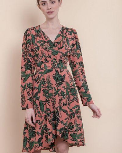 Платье с запахом с длинными рукавами с поясом Mr520