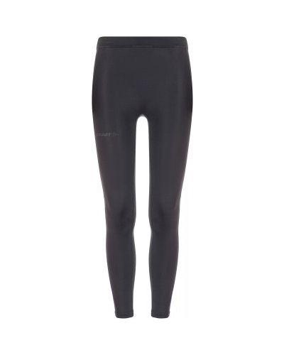 Облегающие черные спортивные брюки для бега Craft