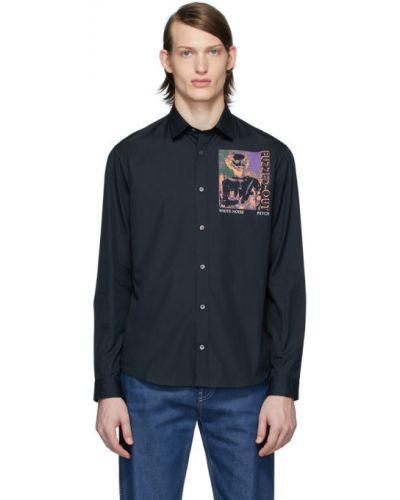 Czarna koszula bawełniana z długimi rękawami Mcq Alexander Mcqueen