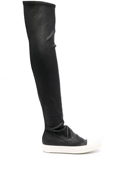 Кожаные черные носки высокие Rick Owens Drkshdw