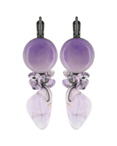 Фиолетовые серьги Nature Bijoux