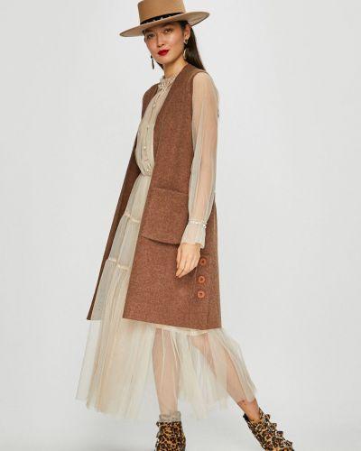 Платье с поясом из вискозы на резинке Silvian Heach