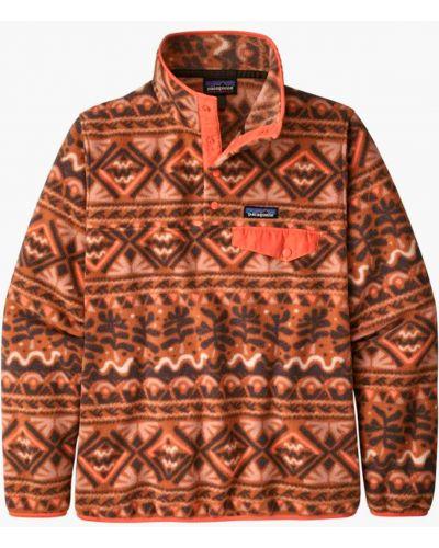 Флисовый оранжевый свободный свитер Patagonia