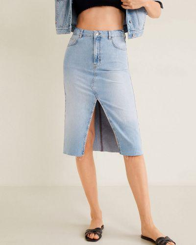 Юбка миди джинсовая на пуговицах Mango