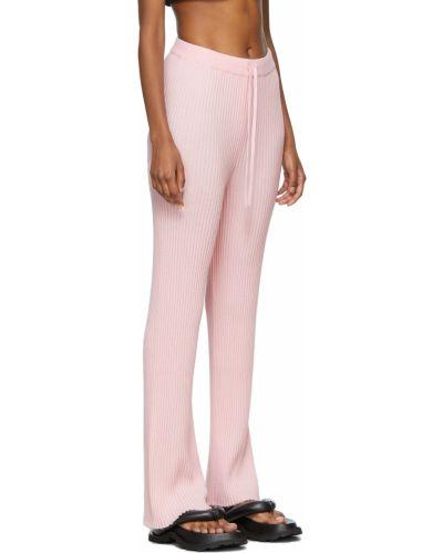 Spodnie wełniane - różowe Marques Almeida