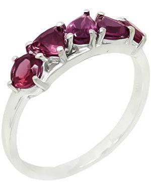 Кольцо из серебра розовый Evora