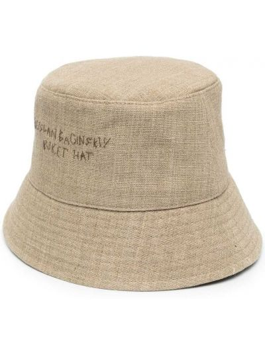 Хлопковая зеленая шапка с вышивкой Ruslan Baginskiy