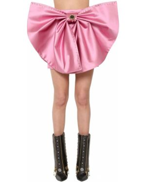 Юбка мини с завышенной талией - розовая Fausto Puglisi