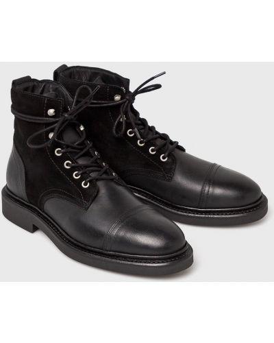 Ботинки на шнуровке кожаные высокие Marc O'polo