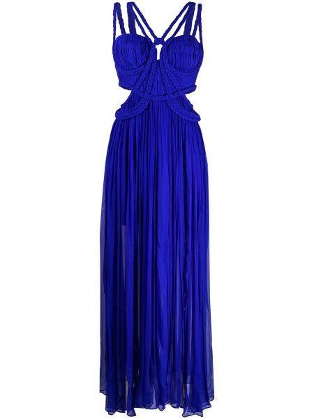 Приталенное платье миди - синее Thurley