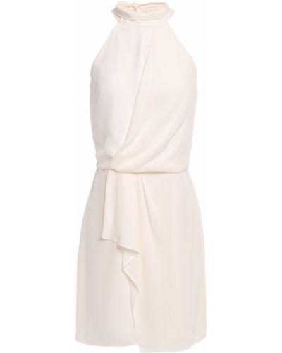 Платье мини с подкладкой из крепа на крючках Halston Heritage