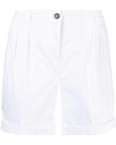 Хлопковые белые шорты со складками Fay