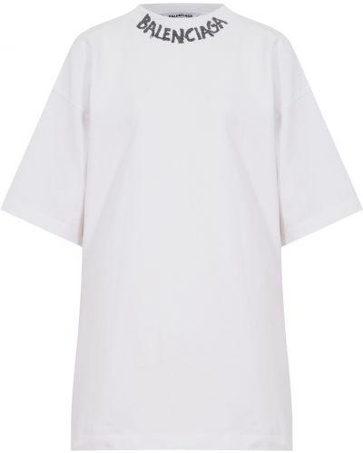 Хлопковая белая футболка Balenciaga