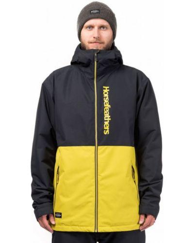 Куртка горнолыжная черная зеленая Horsefeathers®
