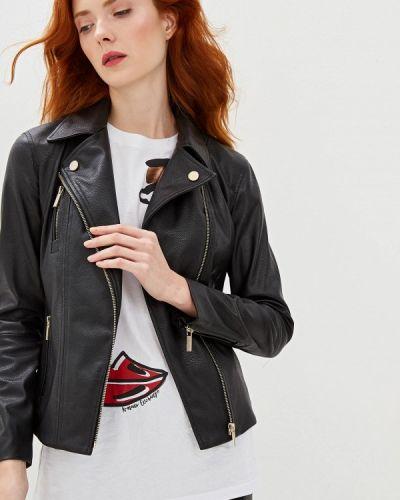 Кожаная куртка осенняя черная Armani Exchange