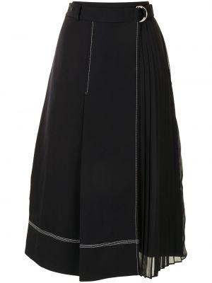 Плиссированная юбка - черная Jonathan Simkhai