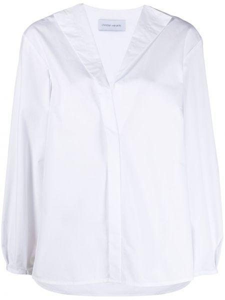 Хлопковая с рукавами белая рубашка Christian Wijnants