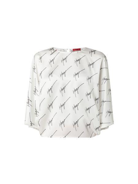 Satynowa bluzka nietoperze rozkloszowana Hugo