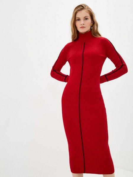 Платье вязаное красный Concept Club